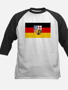 Flag of Saarland Kids Baseball Jersey
