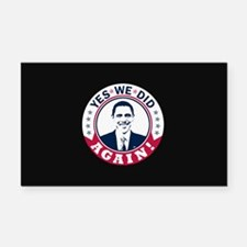 Obama Yes We Did Again Color Rectangle Car Magnet