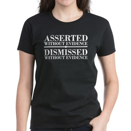 Dismissed Without Evidence Atheist Women's Dark T-