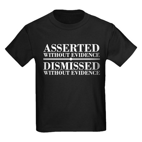 Dismissed Without Evidence Atheist Kids Dark T-Shi