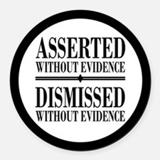 Dismissed Without Evidence Atheist Round Car Magne