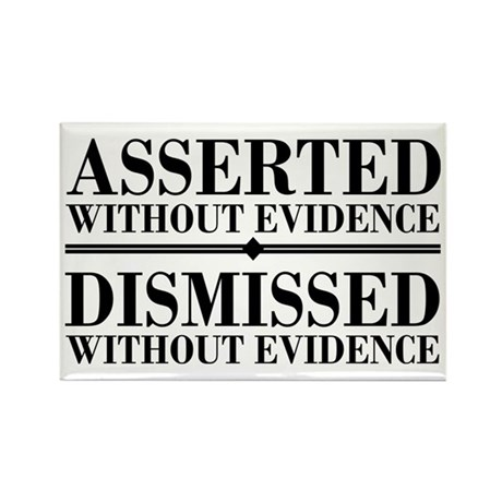 Dismissed Without Evidence Atheist Rectangle Magne