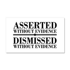 Dismissed Without Evidence Atheist Car Magnet 20 x