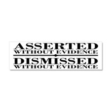 Dismissed Without Evidence Atheist Car Magnet 10 x