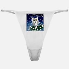 Christmas Snowy Owl Classic Thong