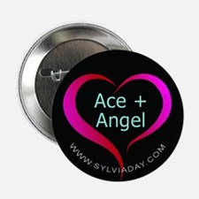 """Ace + Angel 2.25"""" Button"""