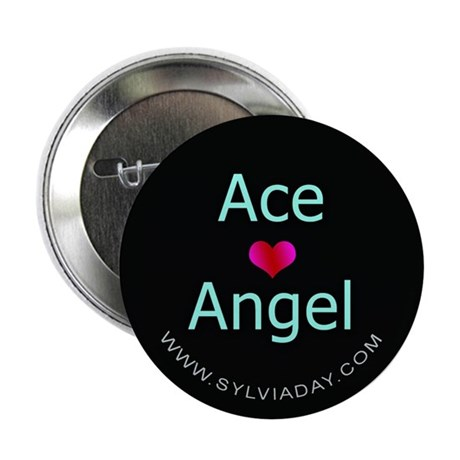 """Ace [heart] Angel 2.25"""" Button (100 pack)"""