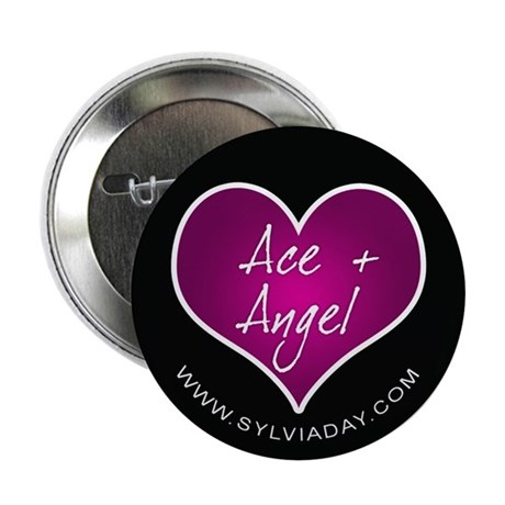"""Ace + Angel [heart] 2.25"""" Button (100 pack)"""