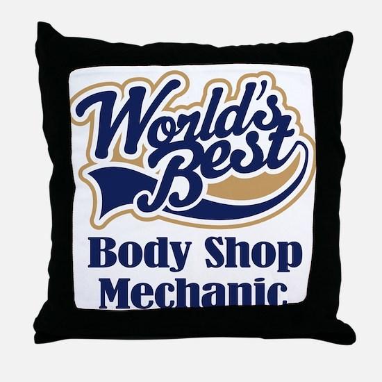 Body Shop Mechanic (Worlds Best) Throw Pillow