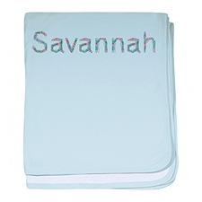 Savannah Paper Clips baby blanket