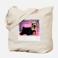 Yorkshire Terrier Yorkie Pop Art Fres Tote Bag