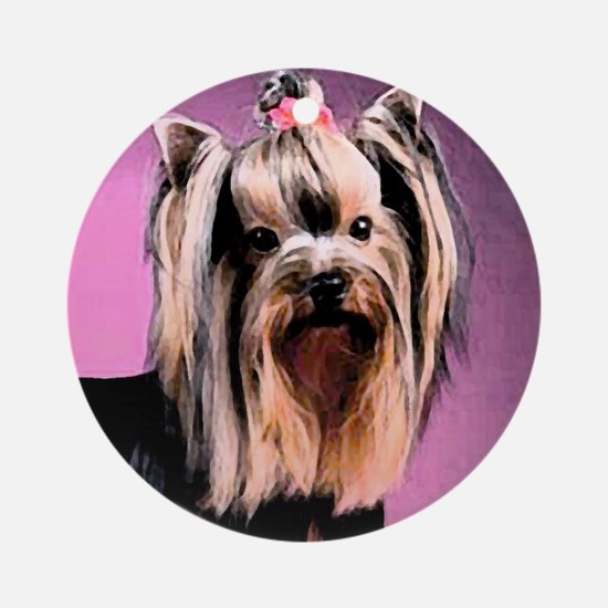 Yorkshire Terrier Yorkie Pop Art Fres Ornament (Ro