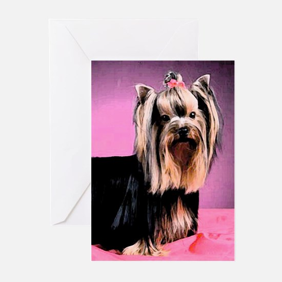 Yorkshire Terrier Yorkie Pop Art Greeting Cards