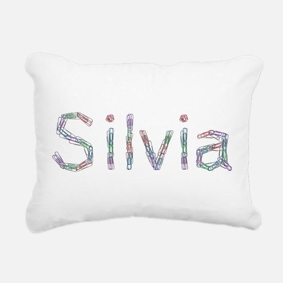Silvia Paper Clips Rectangular Canvas Pillow