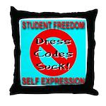 Dress Codes Suck! Throw Pillow