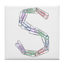 S Paper Clips Tile Coaster