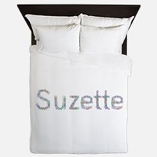 Suzette Paper Clips Queen Duvet