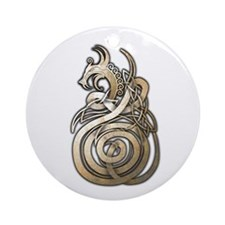 Norse Dragon Ornament (Round)