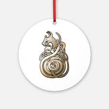 Norse Dragon Ornament (Round)