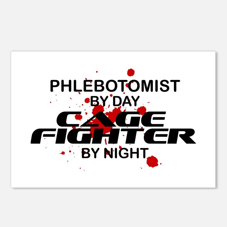 Phlebotomist Cage Fighter Postcards (Package of 8)