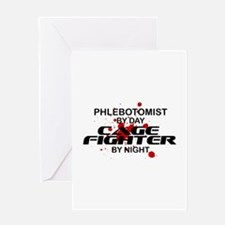 Phlebotomist Cage Fighter Greeting Card