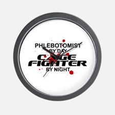 Phlebotomist Cage Fighter Wall Clock