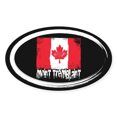 Mont-Tremblant Grunge Flag Sticker (Oval)