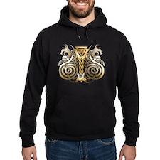 Norse Valknut Dragons Hoodie