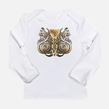 Norse Valknut Dragons Long Sleeve Infant T-Shirt