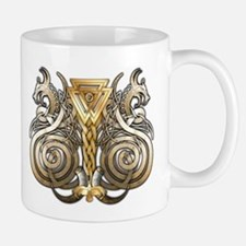 Norse Valknut Dragons Small Mugs