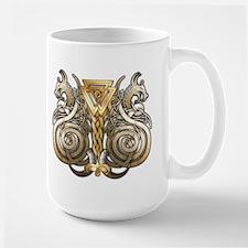 Norse Valknut Dragons Ceramic Mugs