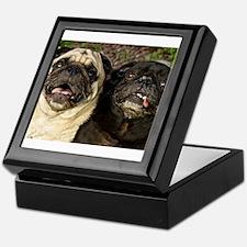 Pug Pair Keepsake Box
