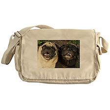 Pug Pair Messenger Bag
