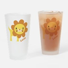 Jungle Lion Drinking Glass