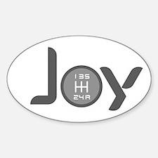 Joy-5sp Grey Sticker (Oval)