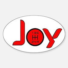 Joy-5sp Red Sticker (Oval)