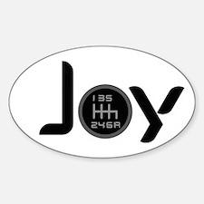 Joy-6sp Black Sticker (Oval)