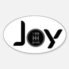 Joy-5sp Black Sticker (Oval)