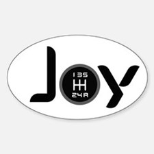 Joy-5sp Black (Clear Pattern) Sticker (Oval)