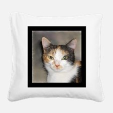 Heystack Kitty Square Canvas Pillow