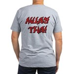 Muay Thai Men's Fitted T-Shirt (dark)
