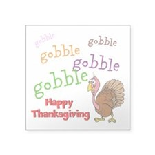 "Thanksgiving - Square Sticker 3"" x 3"""