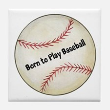 Baseball Tile Coaster
