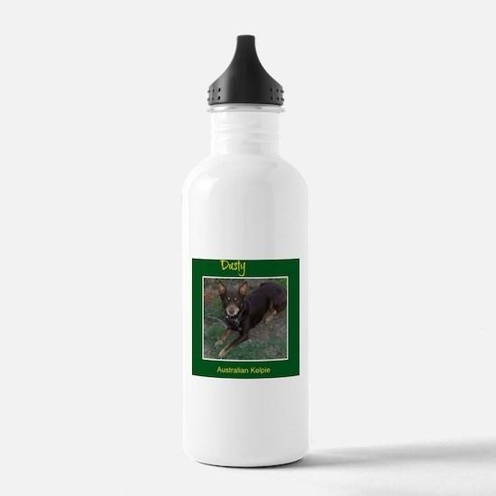 Dusty Australian Kelpie Water Bottle