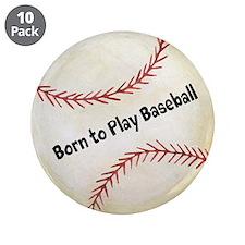 """Baseball 3.5"""" Button (10 pack)"""