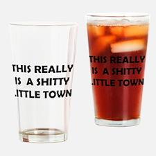 Little town Drinking Glass
