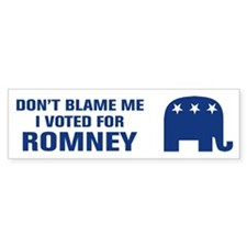 I Voted For Romney Bumper Sticker