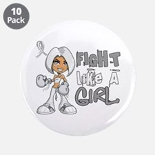 """Fight Like a Girl 42.8 Lung Cancer 3.5"""" Button (10"""