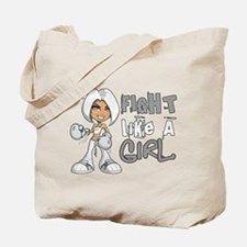 Fight Like a Girl 42.8 Lung Cancer Tote Bag