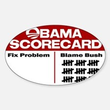 Obama Scorecard Rectangle Decal